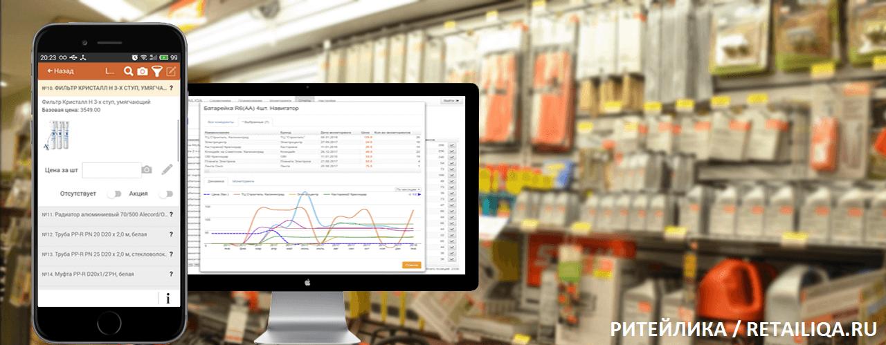 Мониторинг цен конкурентов (сервис Ритейлика)
