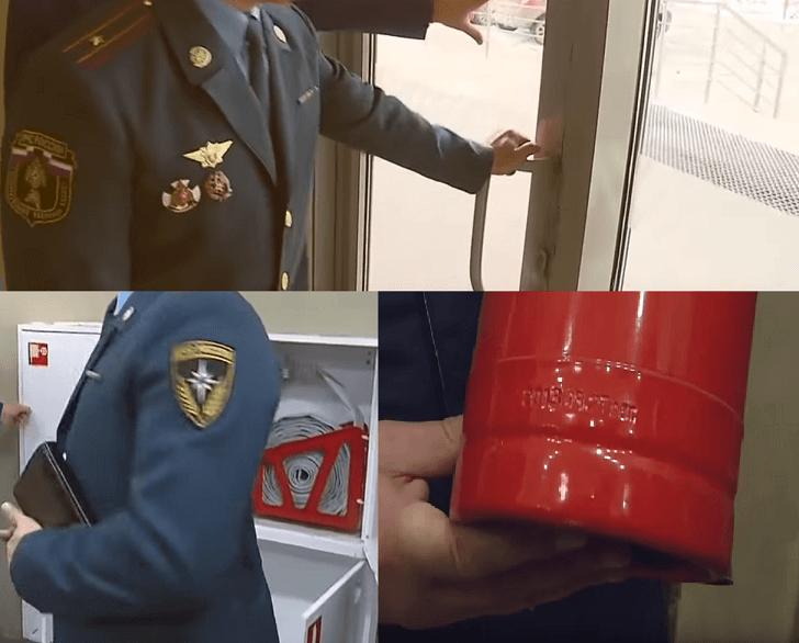 Проверка пожарной безопасности торгового центра МЧС